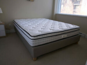 KINGSDOWN RIDLEY MATTRESS + IKEA ESPEVAR MATTRESS BASE  (QUEEN)