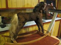 1900 STUFFED PONY FROM ESTATE