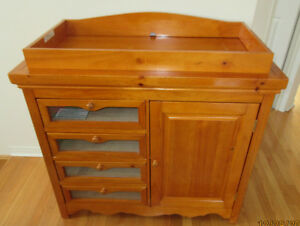 Solid Wood Changing Table 4 drawers & Cupboard storage nice
