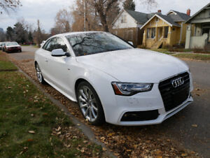 2014 Audi A5 with S-line package white AWD