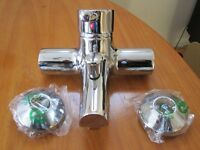 New Chrome Bath mixer tap (Fits on wall not the bath can be used in shower) BNIB