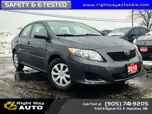 2010 Toyota Corolla CE | WINTER TIRES | SAFETY & E-TESTED