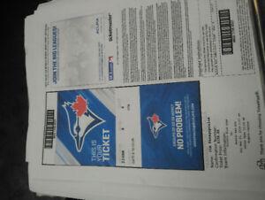 Blue Jay's tickets