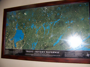Framed Print of Trent Waterway System