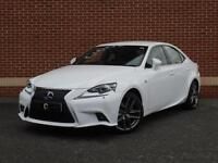 2014 14 Lexus IS 300h 2.5 F Sport E-CVT 4dr (White, Electric Hybrid)