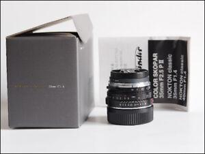Voigtlander Nokton Classic 35mm f/1.4 SC Lens Leica M mount