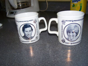 pricess diana and price charles wedding mugs