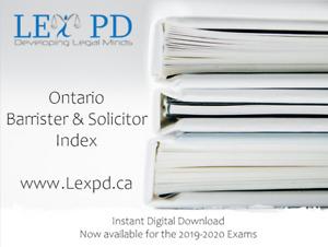Tutoring - Ontario Barrister & Solicitor exams