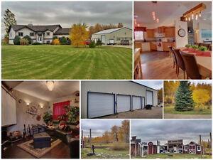 Acreage, 2 min from Red Deer; House, shop and Western Town!