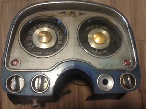 1954 Chrysler gauge cluster and heater controls