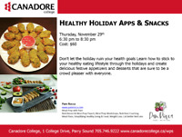 Healthy Holiday Apps and Snacks, Parry Sound, Canadore College