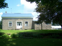 Gorgeous stone farmhouse for sale with 172 acres of land