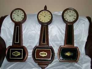Antique Weight Driven Early American Banjo Clocks