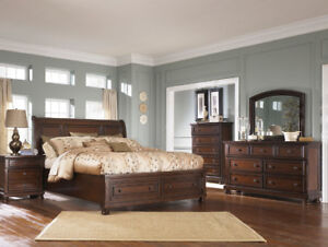 Brand-NEW Solid Wood Bedroom set from Ashley homestore