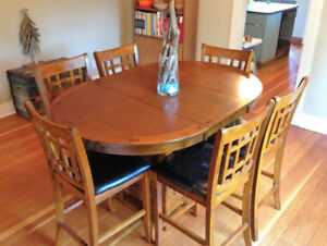 Dalton Oak 7 Piece Dining Set