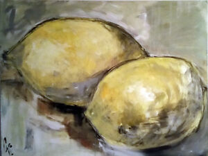 painting - Lemons ( very large format 36'' x 48 '' )