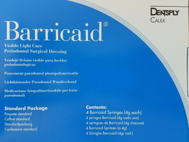 Dentsply Barricaid Visible Light Cure Periodontal Surgical Dressing Dental