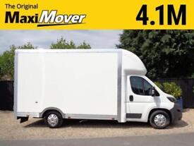 "2018 (18) Peugeot Maxi Mover Grafter 4.1M (13ft 5"") Low Loader Luton Van"