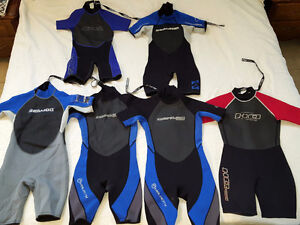Junior's Shorty/Spring Wetsuits - $10 each or 2/$15