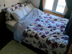 Double Mattress & Metal Frame & Bed Skirt