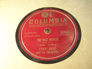 Rare Jazz 78 RPM! Count Basie! The Mad Boogie! NM Columbia!