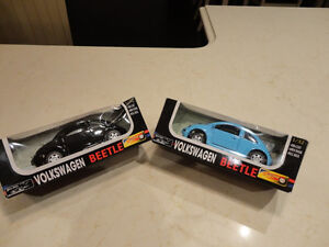 """Pair of Brand New 5"""" Die cast VW New Beetle's.  Pull Back Action"""