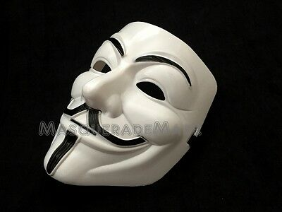 V for Vendetta Mask Adult Mens Guy Fawkes Anonymous USA Occupy Halloween - Masks For Men Halloween