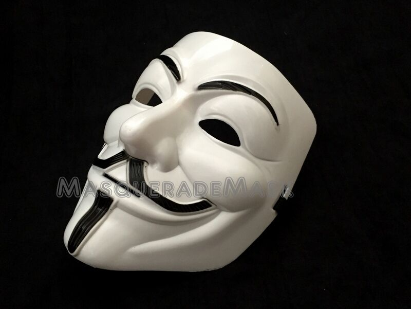 V for Vendetta Mask Adult Mens Guy Fawkes Anonymous USA Occu