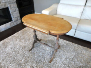 Vintage 1940's Oval Hallway Table in solid decent shape