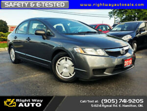 2010 Honda Civic DX-G | NEW TIRES | SAFETY & E-TESTED