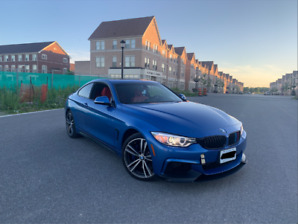 2017 BMW 440I X-DRIVE . BLUE ON RED COUPE .