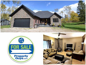 REDUCED! Ferrier Acres Acreage with beautiful Bungalow RMH