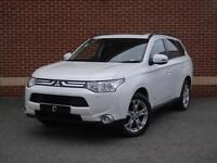 2013 63 Mitsubishi Outlander 2.2 DI-D GX4 4x4 5dr (7 seats) (White, Diesel)