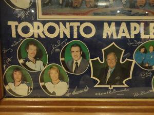 Vintage 1970's Wood Framed Maple Leafs Poster -Great Memorabilia Kitchener / Waterloo Kitchener Area image 4