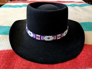 AKUBRA - Vintage Black Fur Felt Australian Western Cowboy Hat