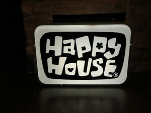 ONE OF A KIND Happy House Dual Sided Fluorescent Hanging Sign Kitchener / Waterloo Kitchener Area image 4