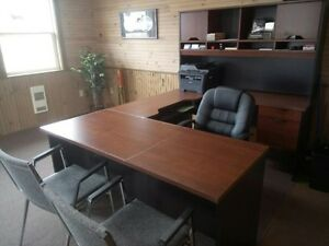 large office desk/chairs