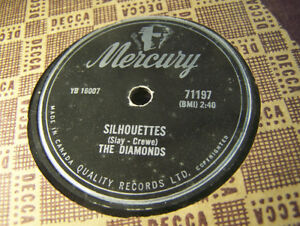 Doo Wop 78 RPM! The Diamonds! Silhouettes/Daddy Cool! NM Beauty!