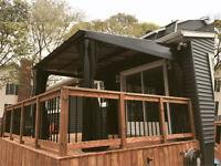 Vente, installation et réparation de gazebo, solarium...