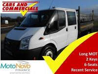 2014 64 FORD TRANSIT TIPPER DOUBLE CAB 350 LWB DRW RWD 100PS DIESEL