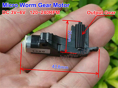 DC 3V 6V 240RPM Micro Worm Gear Motor Mini Gearbox Reduction Wheel Car Robot DIY