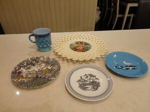 5 Vintage Plates, and a Cup from the 1940's to the 1960's