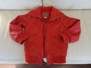 Kids Red Polo Club Red Leather Coat Size L (6x) (Ages 6 to 8yrs)