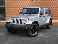 2008 08 Jeep Wrangler 2.8 CRD Sahara Hard Top 4x4 5dr (Silver, Diesel)