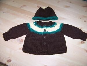 Homemade Knitted Baby Set