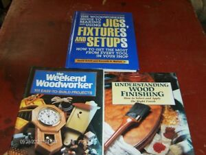 3  Hard Cover Woodworking Books. $2.00 each