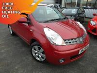2008 Nissan Note 1.4 Acenta R - Red - Platinum Warranty!