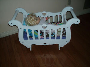 Large White Wooden Doll Cradle / Washing Machine / Grill