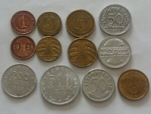 German 12 coins from 1924 - 1938