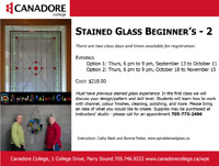 Stained Glass Intermediate, Parry Sound, Canadore College
